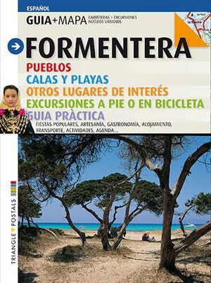 GUIA MAPA FORMENTERA. PUEBLOS, CALAS Y PLAYAS. OTROS LUGARES DE INTERS...